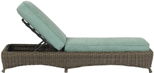 Martha Stewart Lake Adela Weathered Gray Patio Chaise Lou...