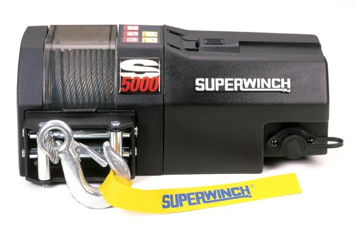 5000, 12 VDC winch, 5,000lb/2268 kg single line pull with roller fairlead & 30' remote (Superwinch 12vdc Electric Winch)