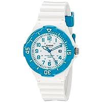 Reloj de acero inoxidable LRW-200H-2BVCF de Casio con banda de resina blanca para mujer