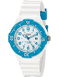 Womens LRW-200H-2BVCF Stainless Steel Watch with White Resin Band