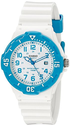 Casio Women's LRW-200H-2BVCF Stainless Steel Watch with White Resin Band