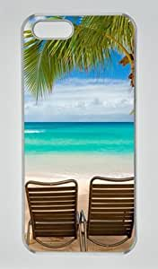 Beach Chairs Palm Tree Seaside Transparent Sides Hard Shell Case for Iphone5 Iphone5S by Sakuraelieechyan by ruishername