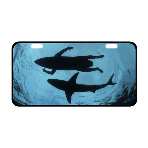 Silhouette Plate (Surfer Silhouette License Plate with made from Aluminum-11.8