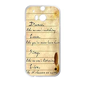 Artistic Poetry notes Cell Phone Case for HTC One M8