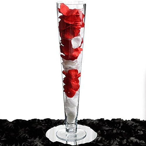 BalsaCircle 4 pcs 28'' tall Glass Trumpet Vases Wedding Party Centerpieces - Clear by BalsaCircle