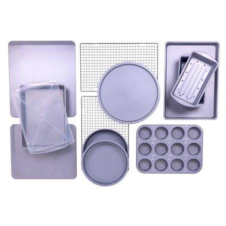 BakerEze 12-Piece Bakeware Set, Muffin Pan, Cookie Sheet, Cake and Loaf Pan, Pizza Pan