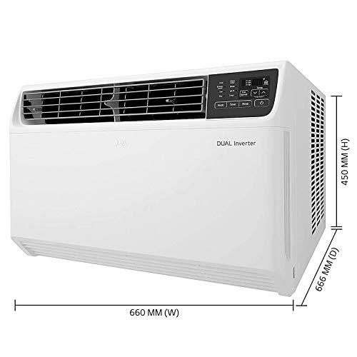 LG 1.5 Ton 5 Star Inverter Wi-Fi Window AC (Copper, 2020 Model, JW-Q18WUZA, White) 419SBbVBDjL India 2021