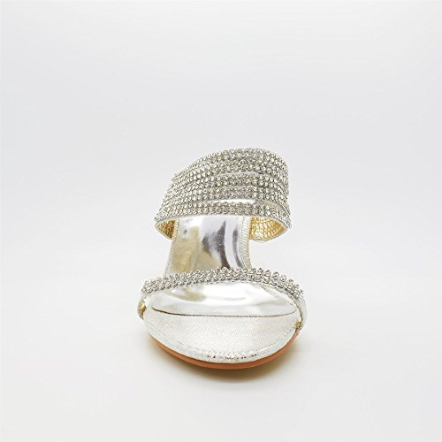 femme Argent argent Footwear l'arrière London à Ouvertes FXxIwxqB