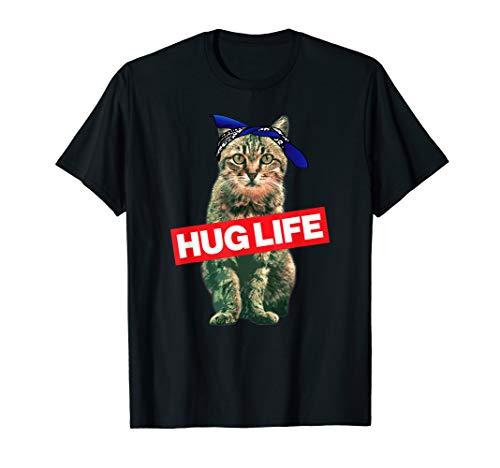 'Hug Life Kitty Cat Thug Gangsta' Kitty Cat Shirt T-Shirt