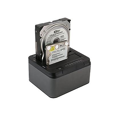 Spinido USB 3.0 Hard Drive Duplicator Dock Station - Black / Grey by Spinido