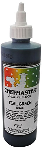 Chefmaster Liqua-Gel Food Color, 10.5-Ounce, Teal by Chefmaster