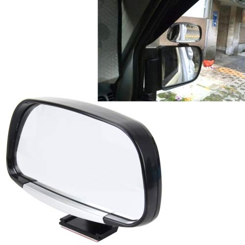 HITSAN INCORPORATION Car Blind Spot Side View Wide Angle Convex Mirror Vision Collection Side View Mirror Blind Spot Mirror(Black)