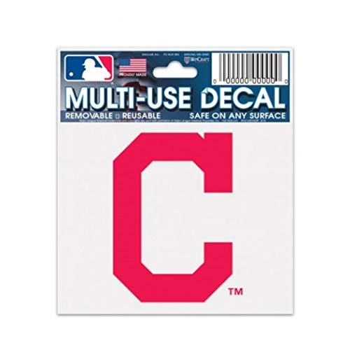 WinCraft MLB Cleveland Indians 84465010 Multi-Use Decal, 3