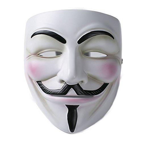 V For Vendetta Mask Guy Fawkes Mask V5 Deluxe Resin Version for Halloween White (V For Vendetta Mask Deluxe)