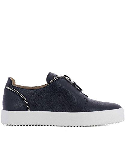 Sneakers In Pelle Nera Giuseppe Zanotti Design Mens Rm8002003