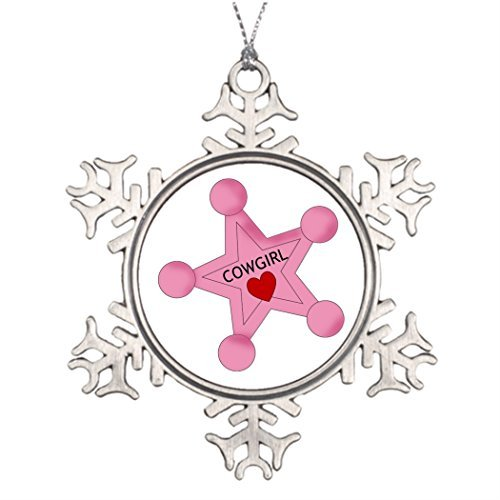 EvelynDavid Sheriff Ideas for Decorating Christmas Trees Western Snowflake Ornaments Tree Decor to Make