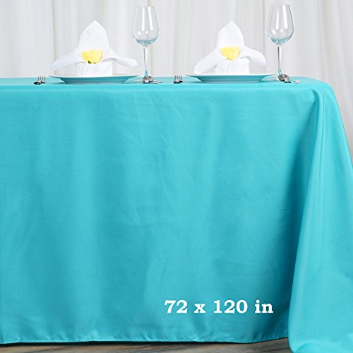 Efavormart 72x120 Turquoise Wholesale Linens Polyester Tablecloths Banquet Linen Wedding Party Restaurant -