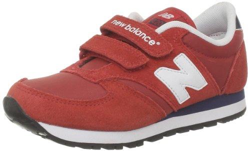 New Balance KE420 - Zapatillas de cuero infantil Rojo - Rouge (Red/Navy)
