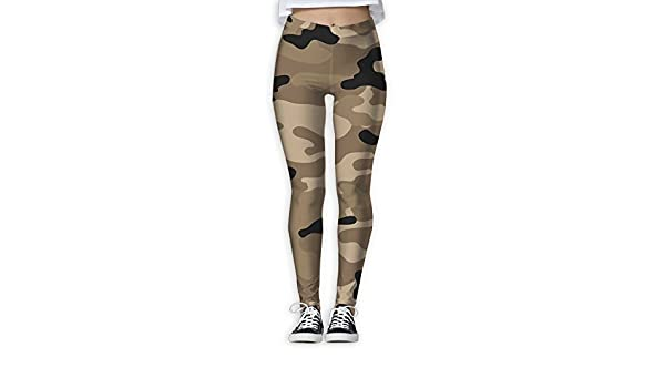 f22f93da6d Doppyee Army Brown Camouflage Printing Compression Leggings Pants Tights  For Women S-XL at Amazon Women's Clothing store: