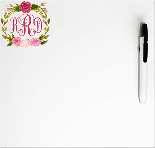 Erase Flower Dry Board (Personalized Whiteboard (Traditional Monogram with Flowers))