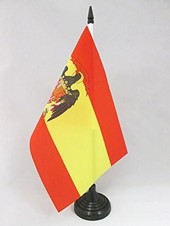 AZ FLAG Bandera de Mesa de ESPAÑA 1977-1981 21x14cm - BANDERINA de DESPACHO ESPAÑOLA con Aguila 14 x 21 cm: Amazon.es: Hogar