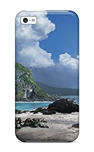Hot Style PUQtPLp3665GPScb Protective Case Cover For Iphone5c(nice Beach And Blue Sky )