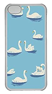 iPhone 5C Case PC Customized Unique Print Design White Swan iPhone 5C Cases