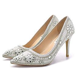 Women's Crystal Rhinestone Wedding High Heel Shoes