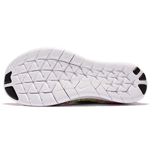 Nike Free RN Flyknit MTLC (GS) Schwarz / Weiß-blaue Lagune