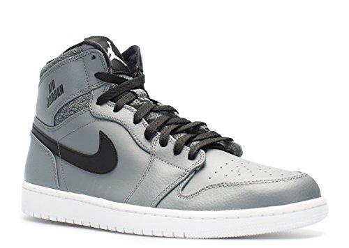 Image of Nike Jordan Men's Air Jordan 1 Retro High Cool Grey/White/Black/White Basketball Shoe (9, Cool Grey/White-Black-White)