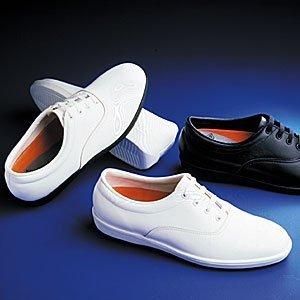 Dinkles Vanguard Männer Marching Band Schuhe Weiß mit schwarzer Sohle