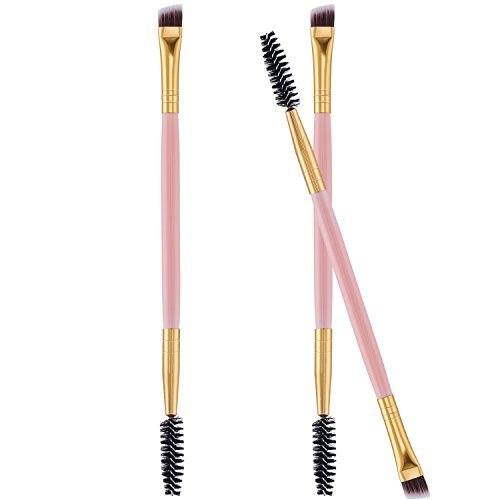 Frienda 3 Pack Eye Brow Brush Eyebrow Spoolie Double Handle Angled and Eyebrow Comb for Application of Brow Powders Waxes Gels and Blends