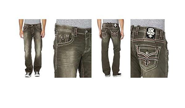 Rock Revival Pantalones Vaqueros Hombre - Mod. Alton Recto ...