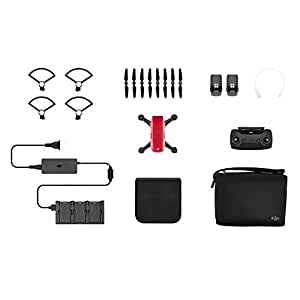 DJI Spark Mini Quadcopter Drone Fly More Combo with Free 16GB Micro SD Card,Lava Red
