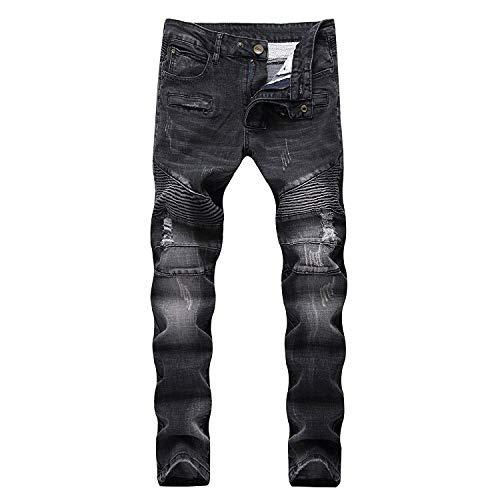 Moda E Nero Ssig Slim Jeans Denim Morbidi Da Dritti Giovane Cotone In Comodi Pantaloni Fit Uomo ZnBZtq4H