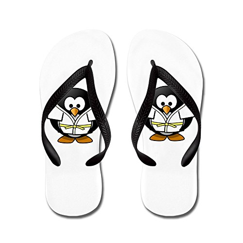 Vraiment Teague Mens Petit Pingouin Rond - Arts Martiaux Karaté Judo Caoutchouc Flip Flops Sandales Noir