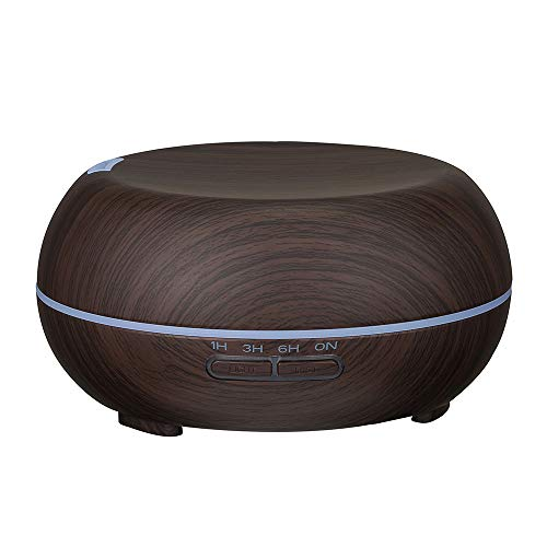TheRang Air Aroma Ultrasonic Humidifier Wood Grain Air Aromatherapy Essential Oil Diffuser 400ml AU