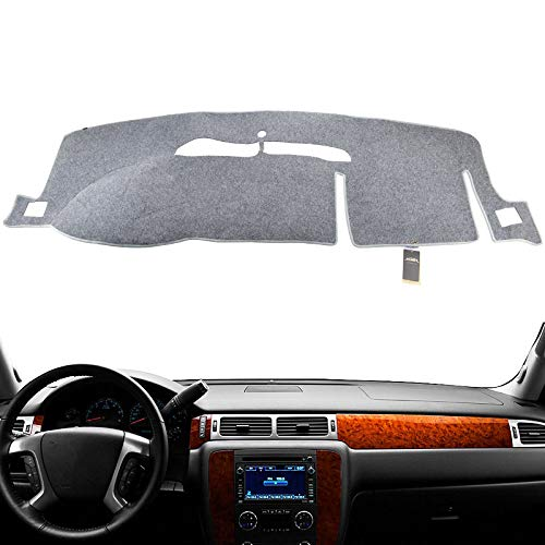 XUKEY Dashboard Cover for Chevrolet Silverado Suburban Avalanche Tahoe 2007-2013 Dash Cover Mat Gray