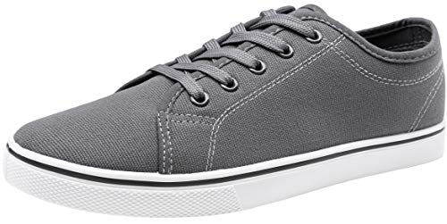 VOSTEY Men's Fashion Sneaker Canvas Casual Shoes Low Top Sneakers (10,Grey) Canvas Mens Casual Shoes