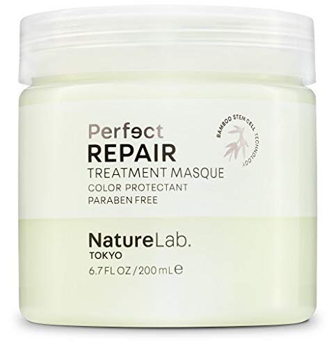 NatureLab. Tokyo - Perfect Repair Treatment Masque restores severely damaged, chemically treated hair: Sulfate and cruelty free, protects color- 6.7 fl. oz. (Repair Masque)