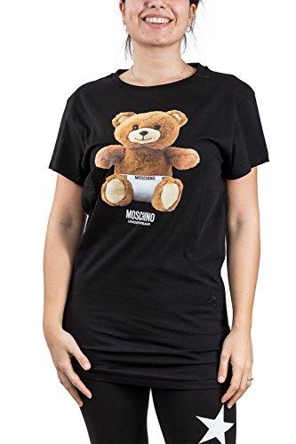 Moschino Nero Abito Logo Ae18mo20 Underwear Donna Teddy Vestito Bear PP0rwq