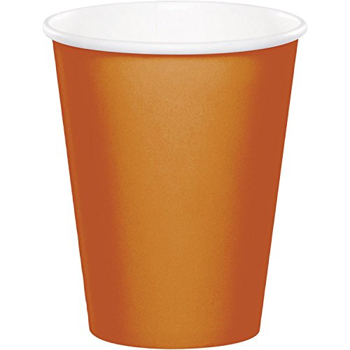 Club Pack of 240 Glittering Gold Disposable Hot/Cold Premium Cups 9 oz ()