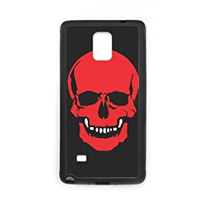 Samsung Galaxy Note 4 Phone Case for Classic Theme RED SKULL pattern design GCTRSL995982