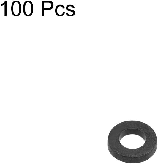 uxcell Nylon Flat Washers for M3 Screw Bolt 6mm OD 1mm Thick 100PCS