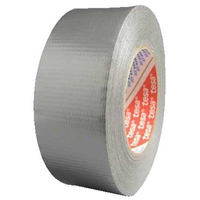 Tesa 744-64613-09002-00 Utility Grade Duct Tape, 22 lb/in Tensile Strength, 60 yds Length x 3 Width, Silver by Tesa Tapes