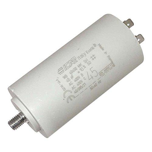 Condensateur permanent moteur à cosse 45 µF ICAR