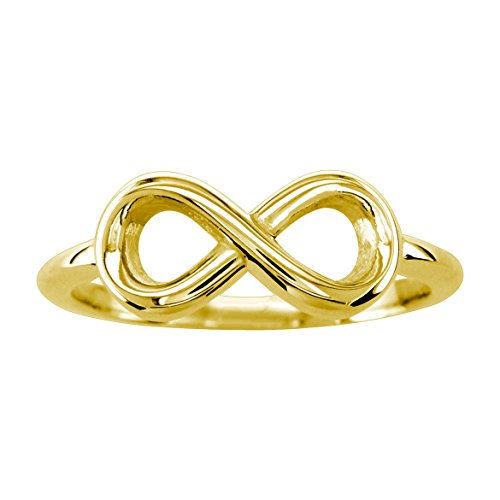 Small Flowing Infinity Ring in 14K Yellow Gold Size 6.5