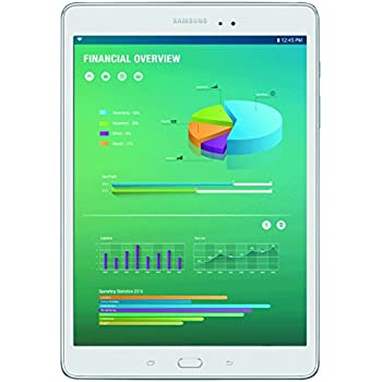 "Samsung SM-T350NZWAXAR Tablet Galaxy Tab A 8"", Processor Quad Core 1.2 GHz, 1.5 GB RAM, 16 GB, Android 5.0 Lollipop, White"