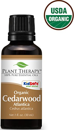 USDA Certified Organic Cedarwood Atlas Essential Oil. 30 ml (1 oz). 100% Pure, Undiluted, Therapeutic Grade.