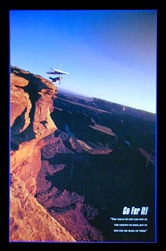 Go For It Motivational Hang Gliding Poster Print 24 x 36 inc
